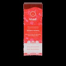 Khadi Hajfesték por - Élénkvörös - 100%Henna