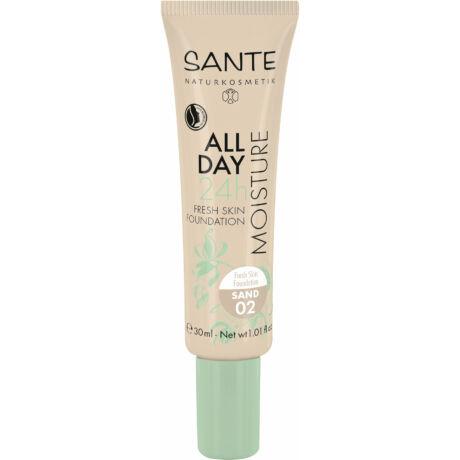 SANTE 24h Hidratáló - Bőr Frissítő Alapozó 02 Sand