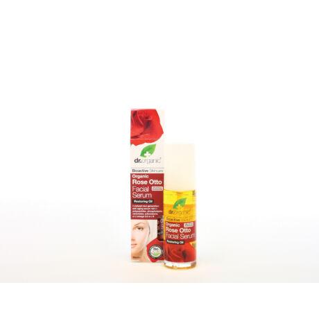 Dr. Organic Arcápoló szérum bio damaszkuszi rózsaolajjal