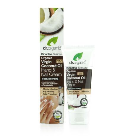 Dr. Organic Hidratáló kéz- és körömápoló krém bio szűz kókuszolajjal