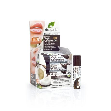 Dr. Organic Ajakbalzsam bio szűz kókuszolajjal