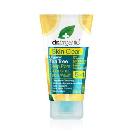 Dr. Organic Skin Clear Mélytisztító arclemosó 5 az 1-ben