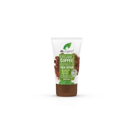 Dr. Organic Élénkítő arcradír bio kávéval