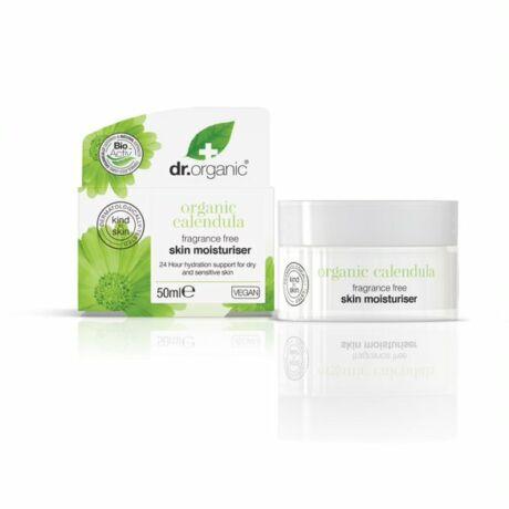 Dr. Organic Illatmentes hidratáló krém bio körömvirággal