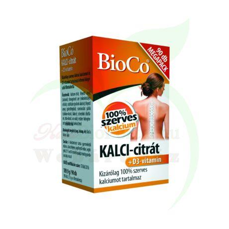 BIOCO KALCI-CITRÁT+ D3-VITAMIN MEGAPACK KAPSZULA
