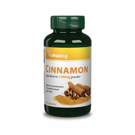 Vitaking cinnamon fahéj 375mg kapszula 90 db