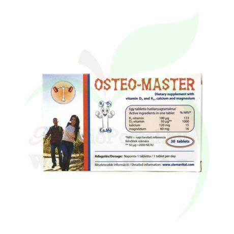 OSTEO MASTER D3 K2 KÁLCIUM ÉS MAGNÉZIUM ÉTRENDKIEG TABLETTA