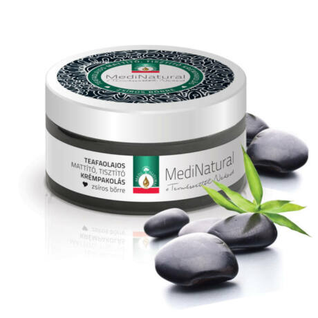 Medinatural mattító tisztító krémpakolás teafás zsíros bőrre 100 ml