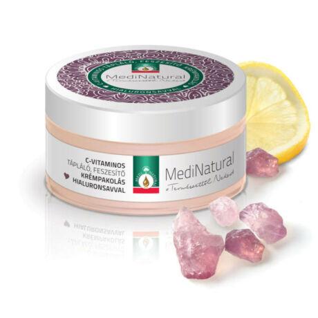 Medinatural tápláló feszesítő krémpakolás c-vitamin+hialuron 100 ml
