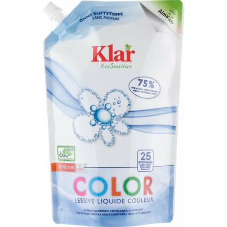 KLAR Color Szenzitív folyékony mosószer színes ruhákhoz - 25 mosásra
