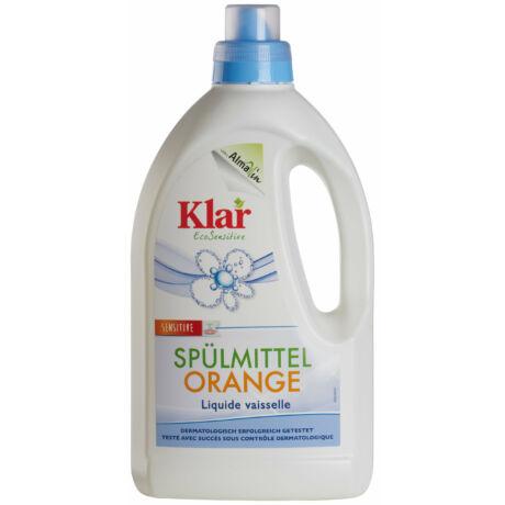KLAR ÖKO-szenzitív narancsolajos mosogatószer 1,5l-es